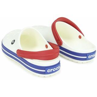 CROCS CROCBAND WHITE/BLUE JEAN
