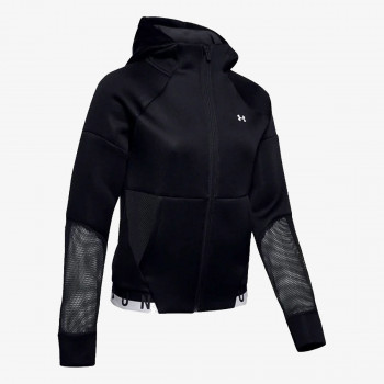 UNDER ARMOUR ODJECA-DUKS-MOVE FULL ZIP HOODIE MESH INSET