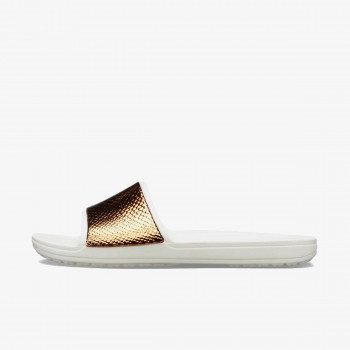 CROCS PAPUCE-CROCS SLOANE METAL TEXT SLIDE W