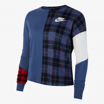 NIKE ODJECA-DUKS-W NSW TOP LS PLAID