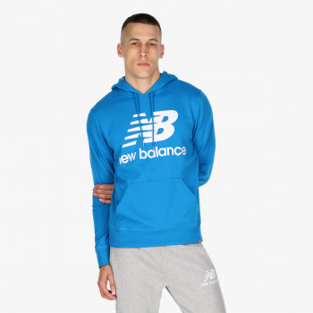 NEW BALANCE NB ESSENTIALS STACKED LOGO PO HOODIE
