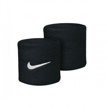 NIKE NIKE SWOOSH WRISTBANDS BLACK/WHITE