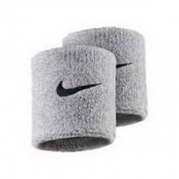 NIKE ZNOJNICA NIKE SWOOSH WRISTBANDS GREY HEATHER/BLAC