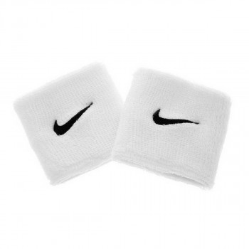 NIKE NIKE SWOOSH WRISTBANDS WHITE/BLACK