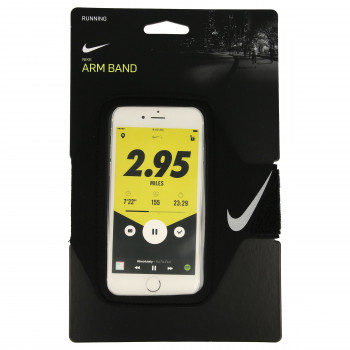 NIKE NIKE LEAN ARM BAND BLACK/BLACK/SILVER